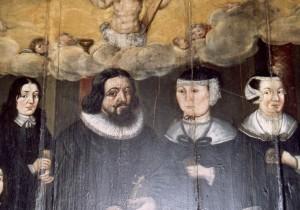 Ausschnitt,  Arnold Schepler mit seiner Frau