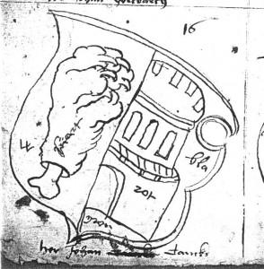 Wappen- Skizze Johann Tancke