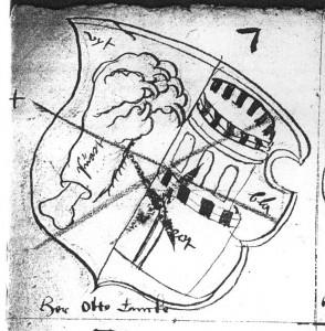 Wappen-Skizze, Otto Tancke, Stadtarchiv Lübeck