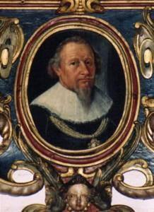 Otto Tanck, Ausschnitt, Epitaph-Bild im Dom zu Lübeck