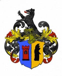 Wappen Otto Tanck, nach Vorlage koloriert, Stadtarchiv Lübeck